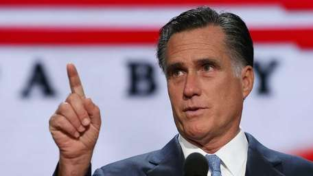 Mitt Romney during a soundcheck on the final
