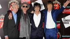 From left, Charlie Watts, Keith Richards, Ronnie Wood