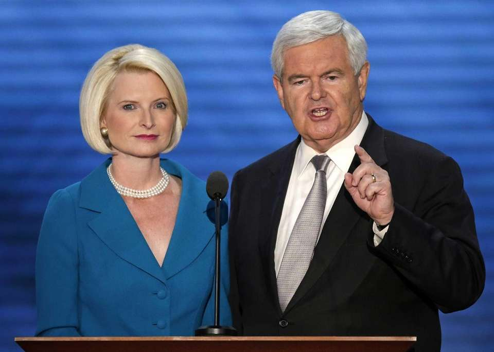 Former House Speaker Newt Gingrich and his wife