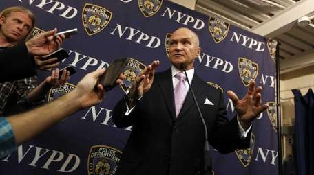 New York City Police Commissioner Ray Kelly speaks