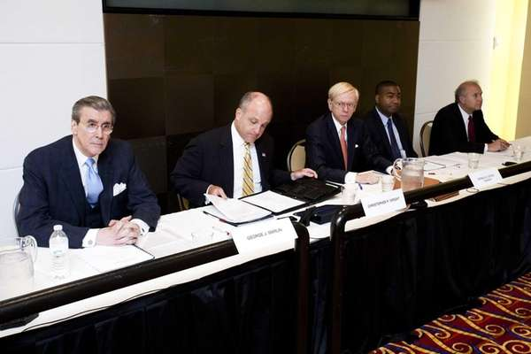 Nassau Interim Finance Authority meeting, from left to
