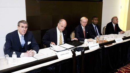 Nassau Interim Finance Authority meeting, from left to