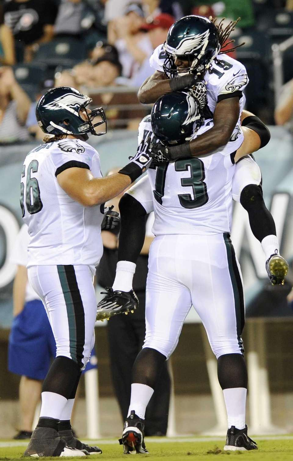 Philadelphia Eagles wide receiver Mardy Gilyard celebrates with
