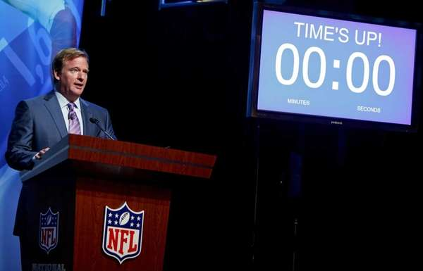 NFL commissioner Roger Goodell announces the first overall