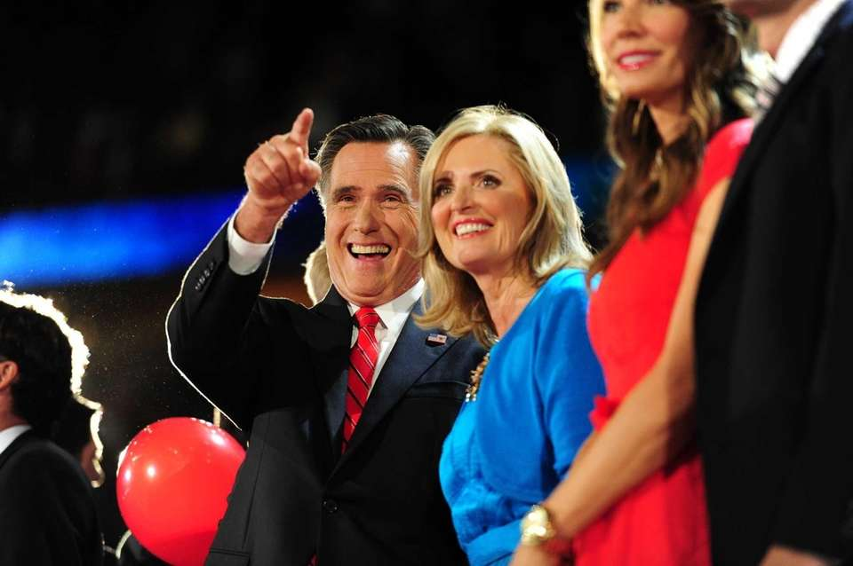 Republican presidential nominee Mitt Romney and his wife