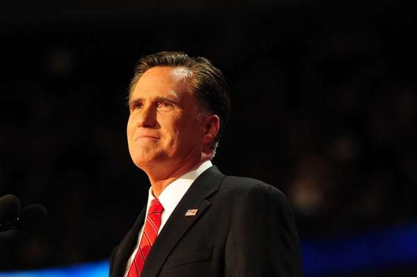 Presidential nominee Mitt Romney addresses the Republican National