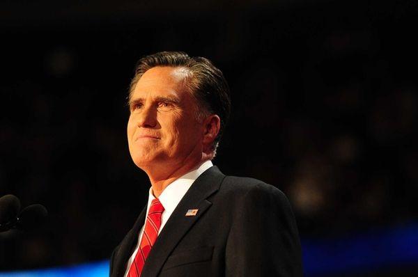Presidential nominee Mitt Romney addresses the Republican National