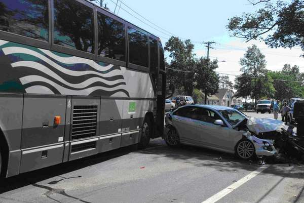 Southampton Town Police responded to an accident involving