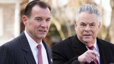 Reps. Thomas Suozzi, left, and Peter King are