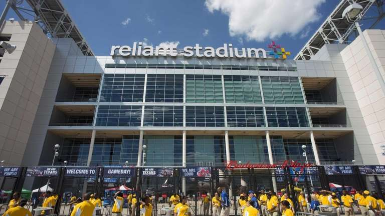 The exterior of Reliant Stadium before an NFL