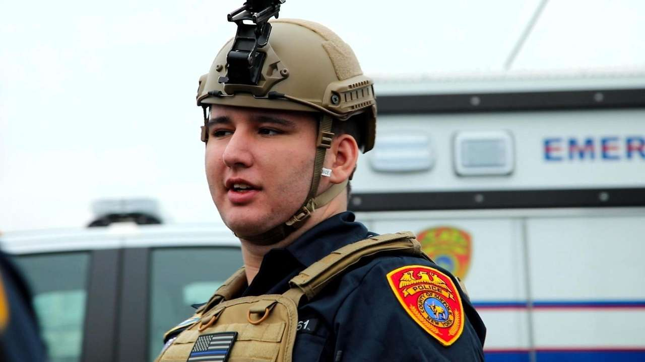 Tyler Alvarez, son of NYPD officer Luis Alvarez,