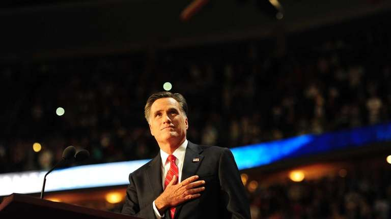 Republican presidential nominee Mitt Romney addresses the Republican