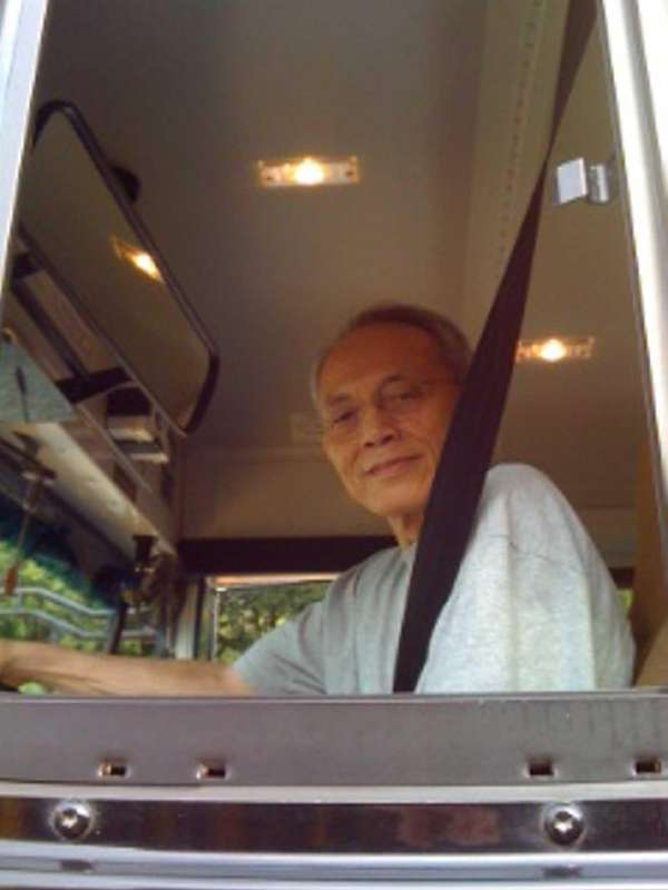 Chao-Sheng Cheng of Glen Cove drives a bus