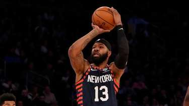 Marcus Morris Sr. #13 of the Knicks takes
