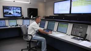 Tim McKell, a Control Center Operator, monitors water