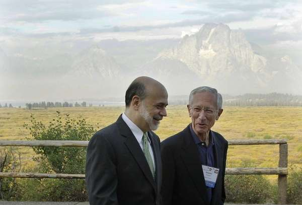 With the Teton Mountains behind them, Federal Reserve