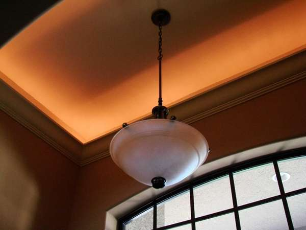 Add interest to a tray ceiling with paint