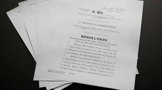 A copy of the articles of impeachment on