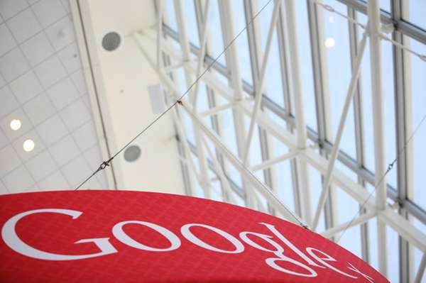 A Google+ (plus) logo is seen at Google's