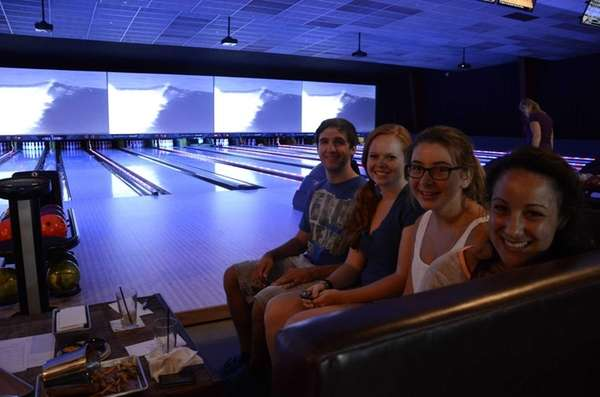 Bowlers enjoy the lanes and the food at