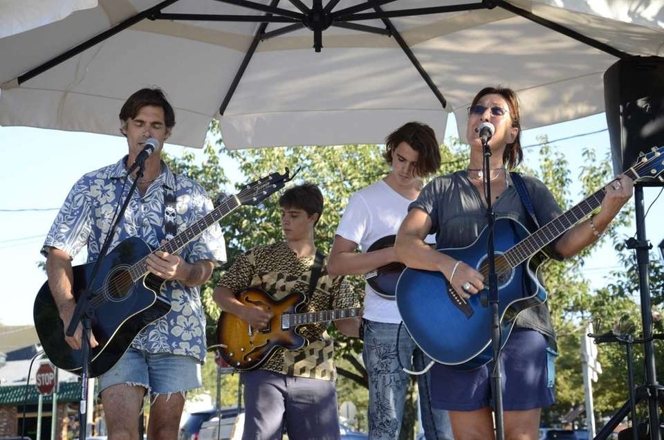 3rd Estate, an East Hampton-based band, performs at