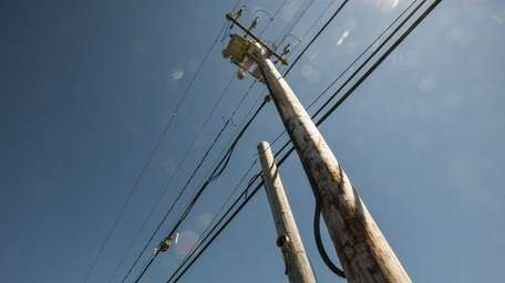 A double utility pole. (Aug. 29, 2012)