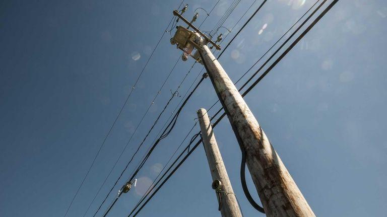A double utility pole. (Aug. 29, 2012)