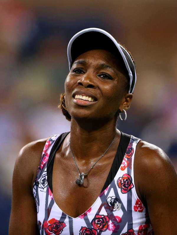 Venus Williams reacts during her women's second round