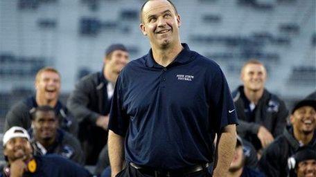 Penn State head coach Bill O' Brien, center,