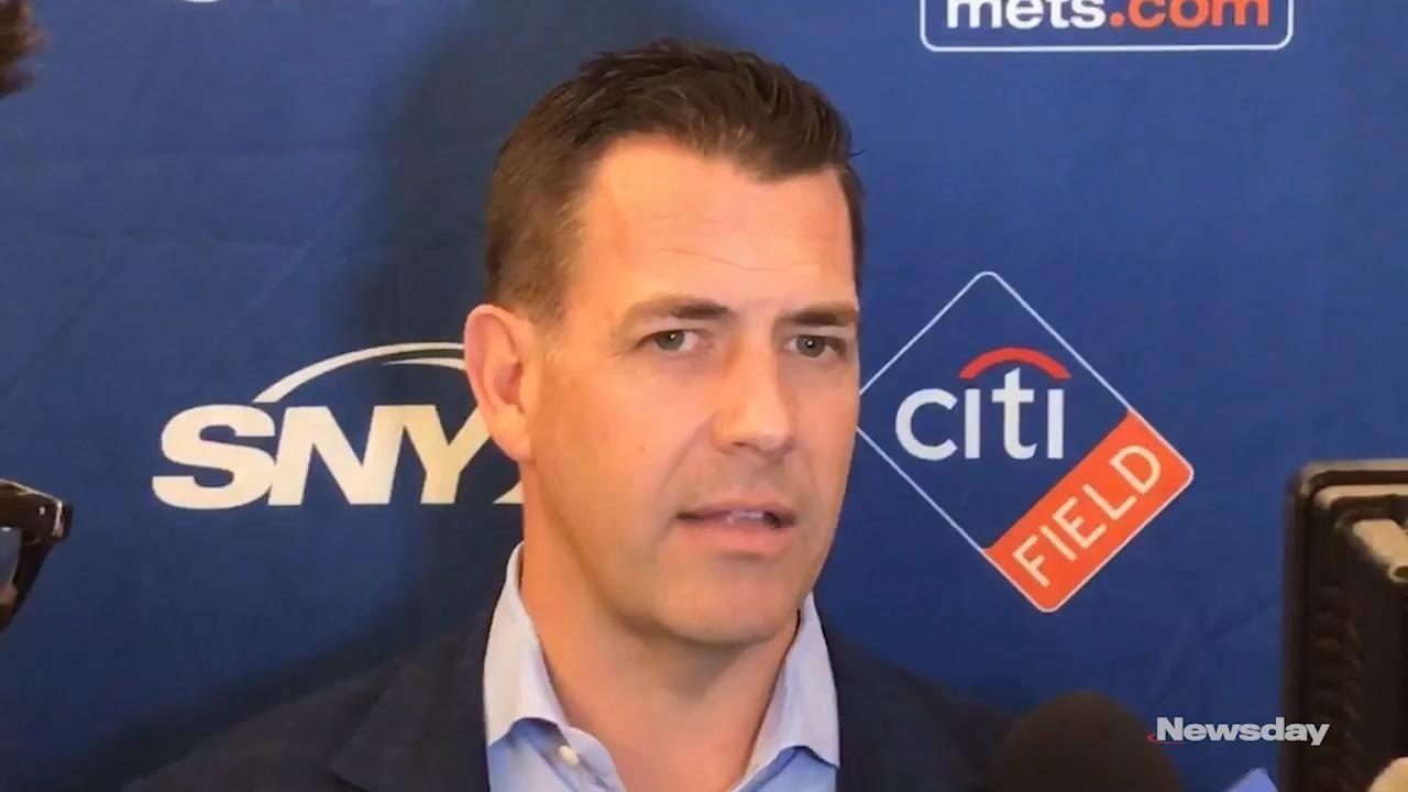 Mets general manager Brodie Van Wagenen met the