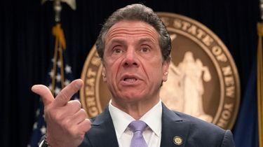New York State Governor Andrew Cuomo responds to