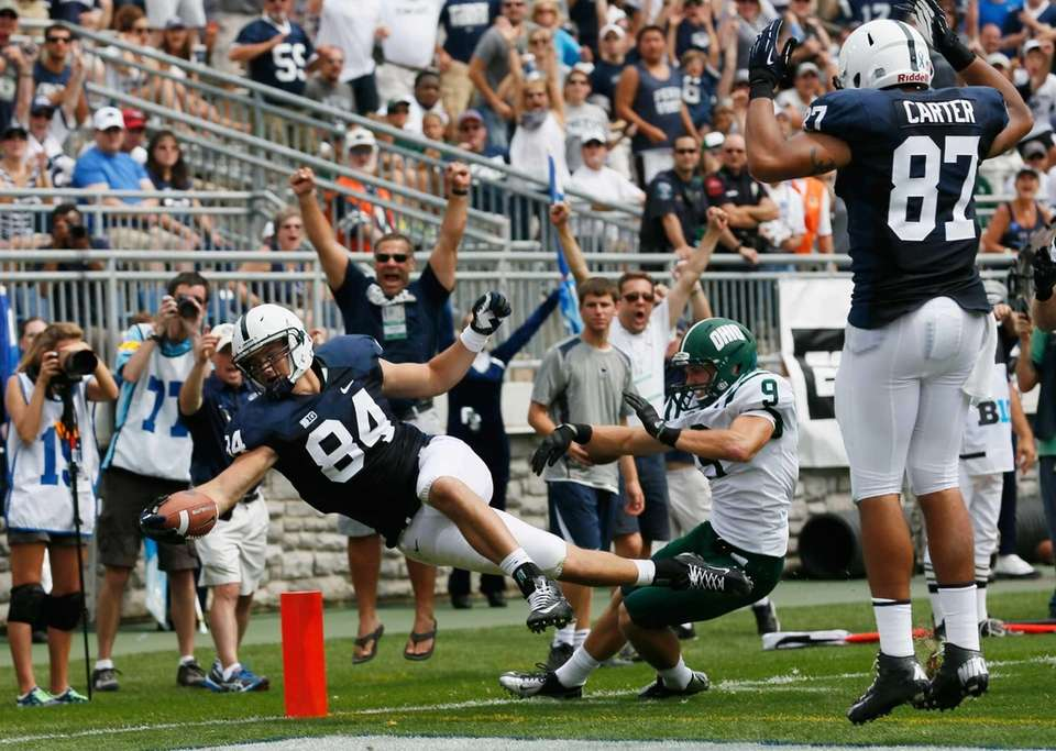 Matt Lehman (84) of the Penn State Nittany