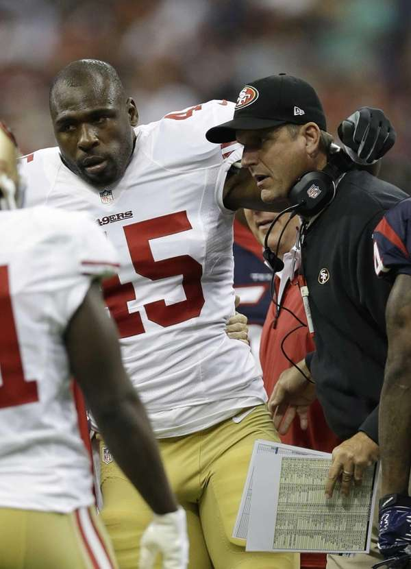 San Francisco 49ers running back Brandon Jacobs is