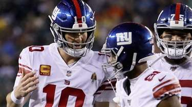 Quarterback Eli Manning of the New York Giants