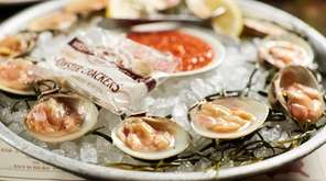 Clams on the half-shell are the marquee item,
