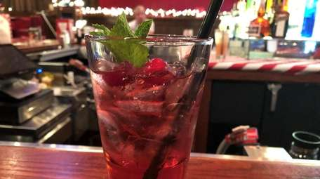 The Mistletoe Margarita, a cranberry juice and tequila
