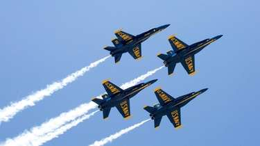 The Blue Angels take to the sky during
