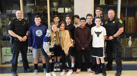 Students at Eastport-South Manor Junior-Senior High School recently
