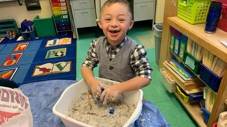 Aquebogue Elementary School kindergartner Lucas Pereira recently made