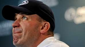 Penn State head coach Bill O'Brien speaks to