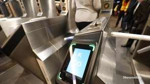 Penn Station travelers were introduced on Wednesday to OMNY, which