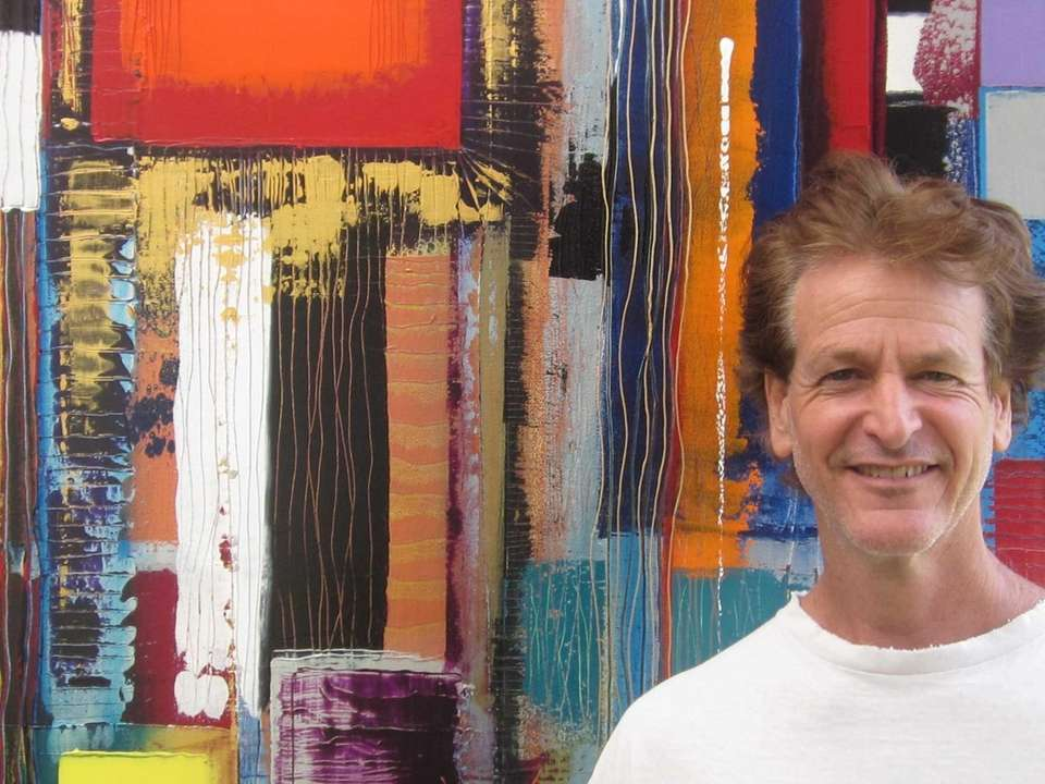 Marvin Murphy, of Fort Lauderdale, with his artwork