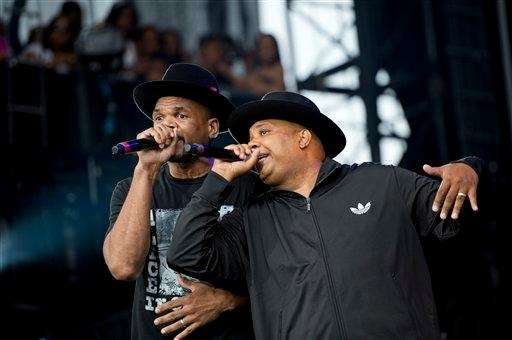 "Run DMC performing at the ""Made In America"""