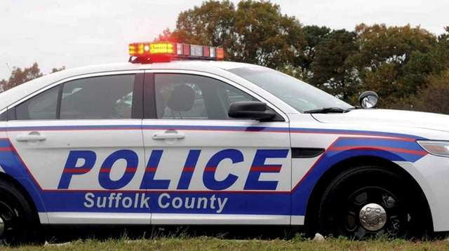 A Suffolk County police car is shown in