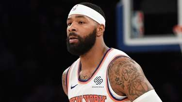 Knicks forward Marcus Morris Sr. against the Brooklyn