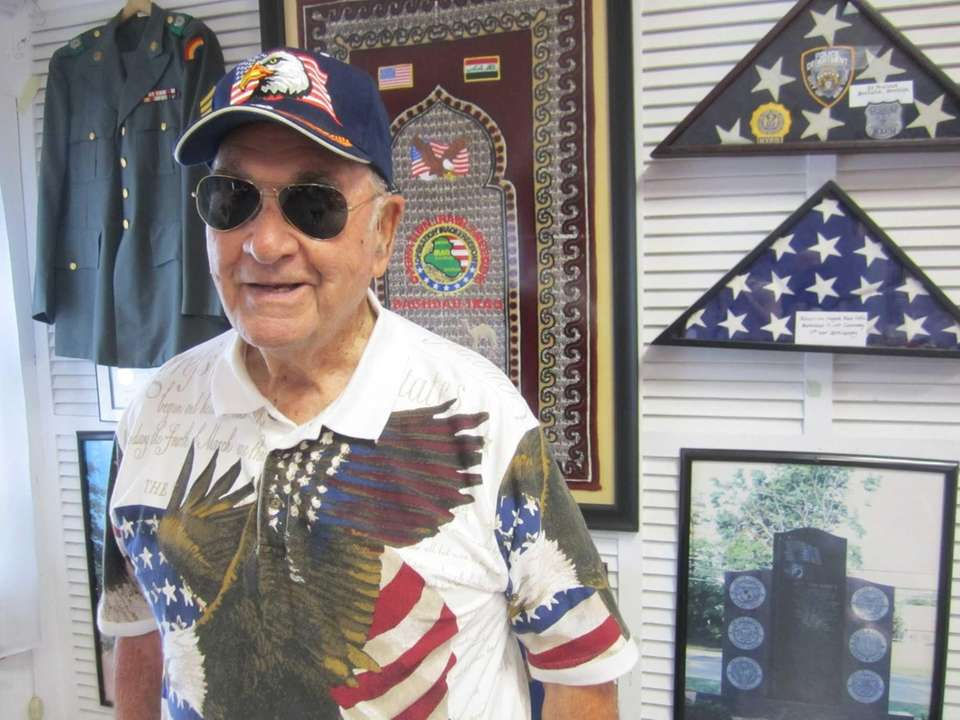 Robert C. Wieboldt, 92, of Levittown, attends the