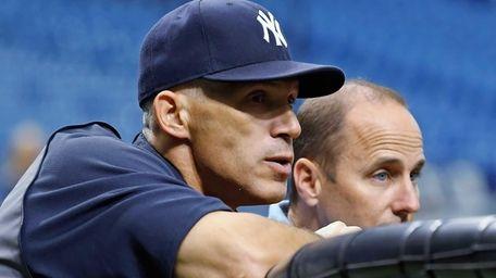 Manager Joe Girardi #28 and General Manager Brian