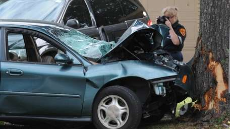 A passenger died and the driver was injured
