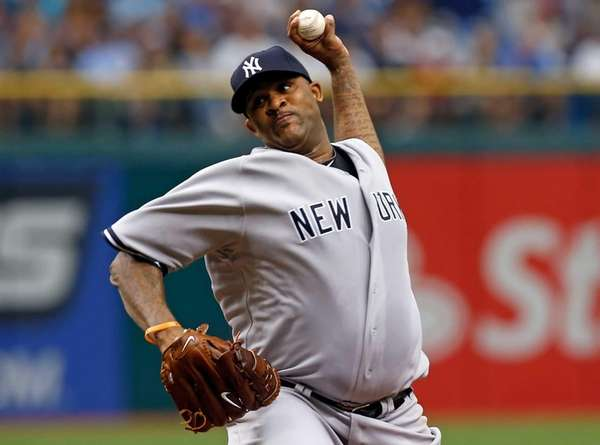 Pitcher C.C. Sabathia #52 of the New York