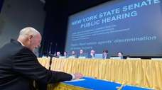 Newsday's Arthur Browne testifies before the Joint Public